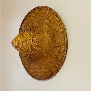 Conical Straw Bamboo Hat   Cambodia Imported Decor